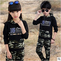 Children Clothing Sets For Boys and girls Camouflage Sports Suits Autumn Kids Tracksuits 2017 Teenage Boys Sportswear 3-12 Years