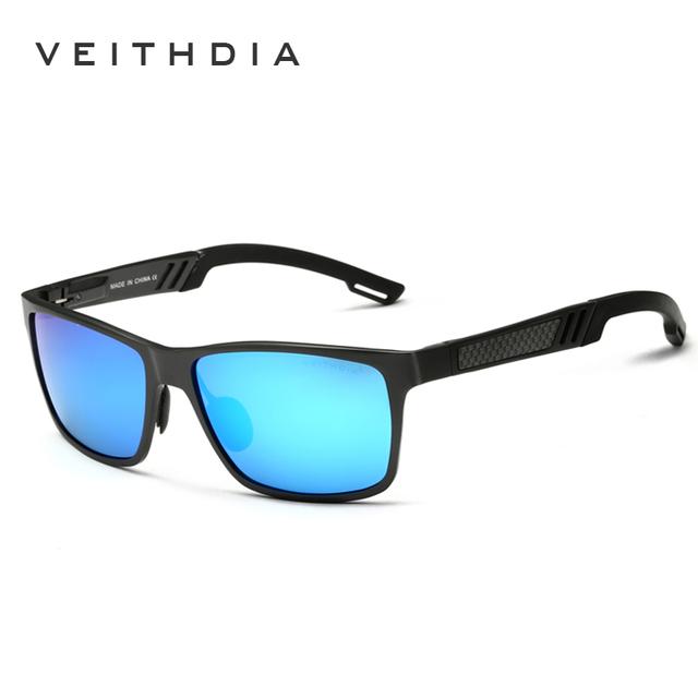 VEITHDIA Men's Aluminum Polarized Mens Sunglasses Mirror Sun Glasses Square Goggle Eyewear Accessories For Men Female 6560
