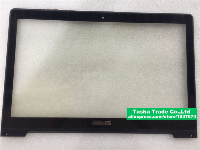 15.6  Touchscreen for ASUS S551L Touch Screen Panel Digitizer Glass with frame  Replacement shipping free TOP15G01 V0.5 touchscreen for schneider xbtgt1105 touch screen panel glass free shipping