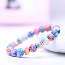 Fashion Chakra Bracelets & Bangles For Women Colorful Stone Tube Beaded Female Bracelet High Quality Lady Charm Trendy Jewelry(China)