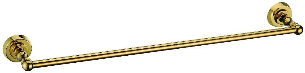 FREE SHIPPING new  design 24k gold round base single  towel bar D