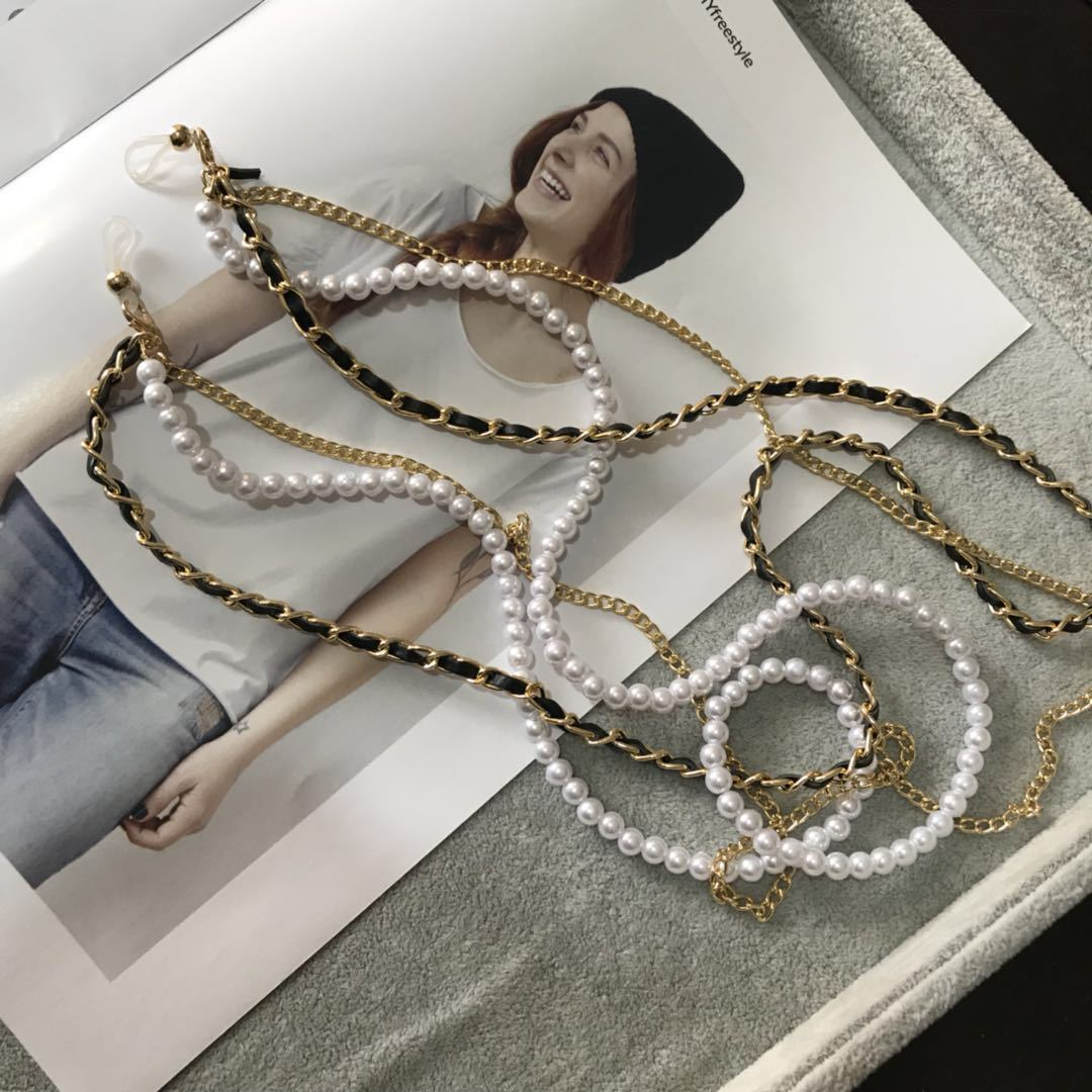 2019 Multi-layer White Pearl Sunglasses Chain Women Sexy Chain For Sunglasses Chic Eyeglasses Reading Glasses Chain Cord Holder