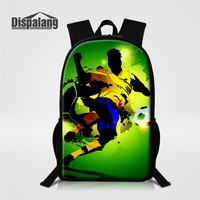 Dispalang Personalized Design Soccers Player Printing Men S Backpack Men Travel Bags 16 Inch Larger School
