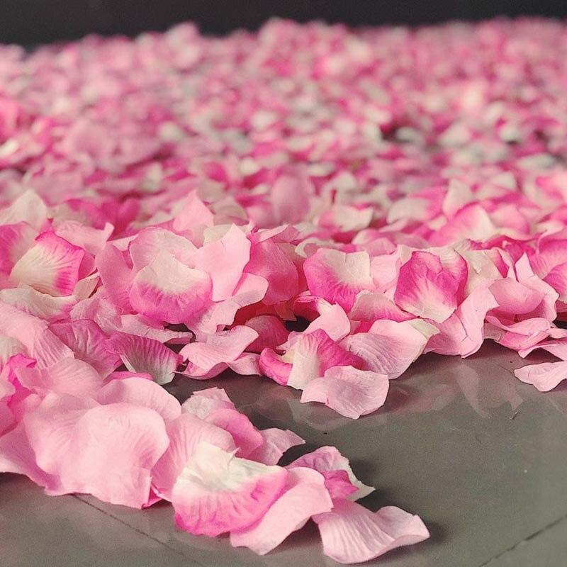 500pcs Rose Petals Flower Girl Toss Fake Silk Petals Artificial Petals For Wedding Confetti Party Event Decorations