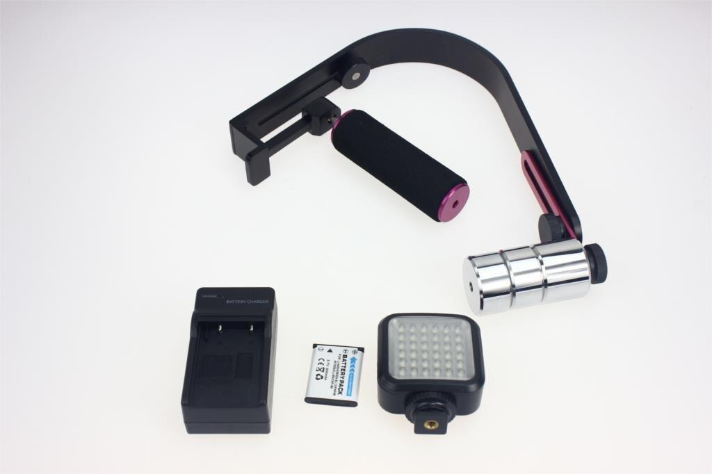 ФОТО F11301-A Commlite CS-S1 Video Studio Camera Steady Stabilizer Handheld DSLR Grip + 36 LED Adjustable White Lamp Light