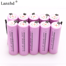 10PCS 18650 batteries INR18650 Rechargeable Battery for 18650 batteries DIY Nickel Sheets Discharge 2600mAh Li-ion 3.7V стоимость