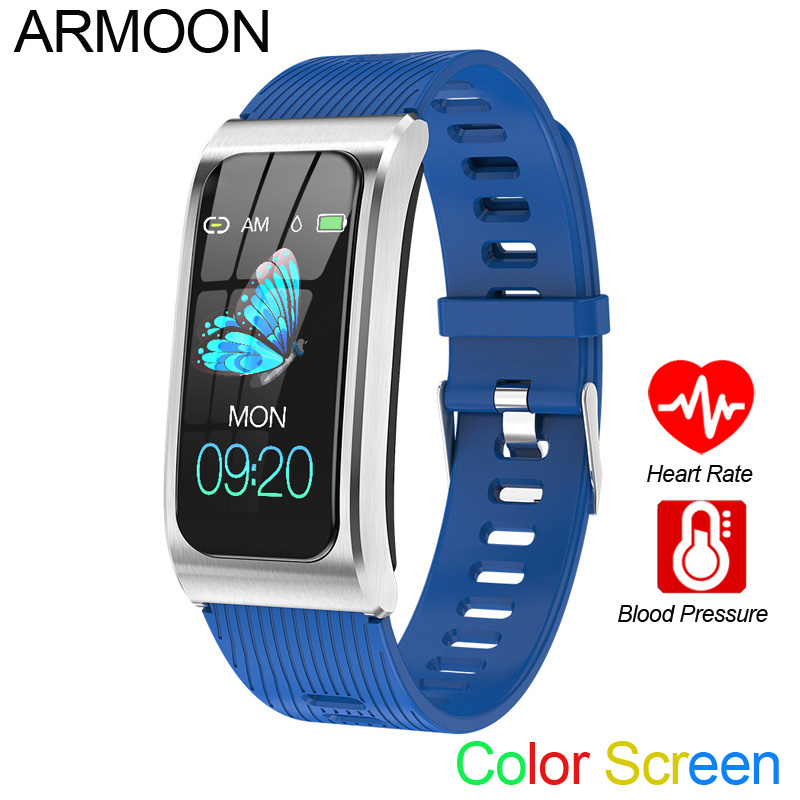 Smart Bracelet AK12 Color Activity Call Message Band Heart Rate Blood Pressure Fitness Tracker Waterproof Men Women Sports Watch
