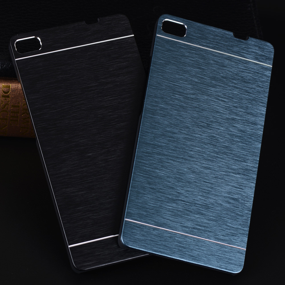 Aluminum Case For Huawei P8 Lite Case Luxury Motomo Metal Brush PC Hard Case For Huawei P9 Lite P9 P8 Honor 4C Accessories Cases