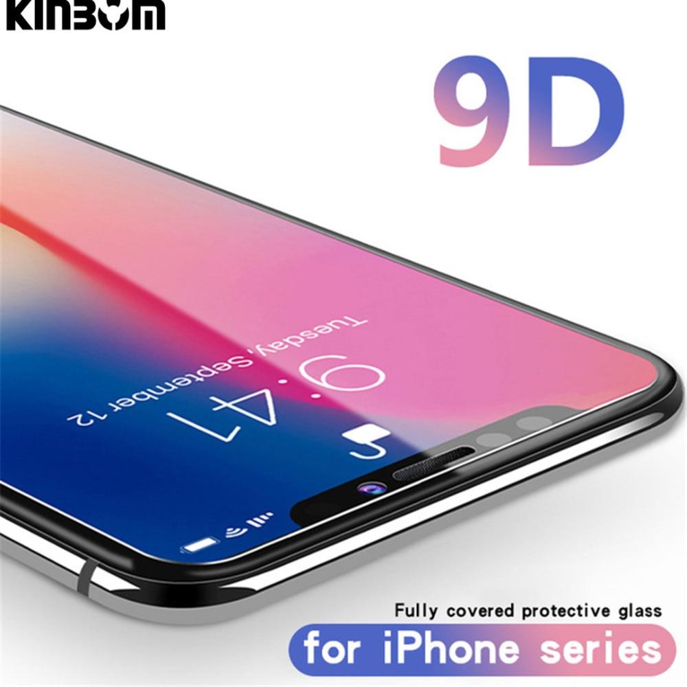 Handys & Telekommunikation Gastfreundlich Kinbom 9d Gehärtetem Glas Für Iphone Xs Xr Xsmax Anti-fingerprint Schutz Glas Screen Protector Für Iphone 6 S 7 8 Plus Glas