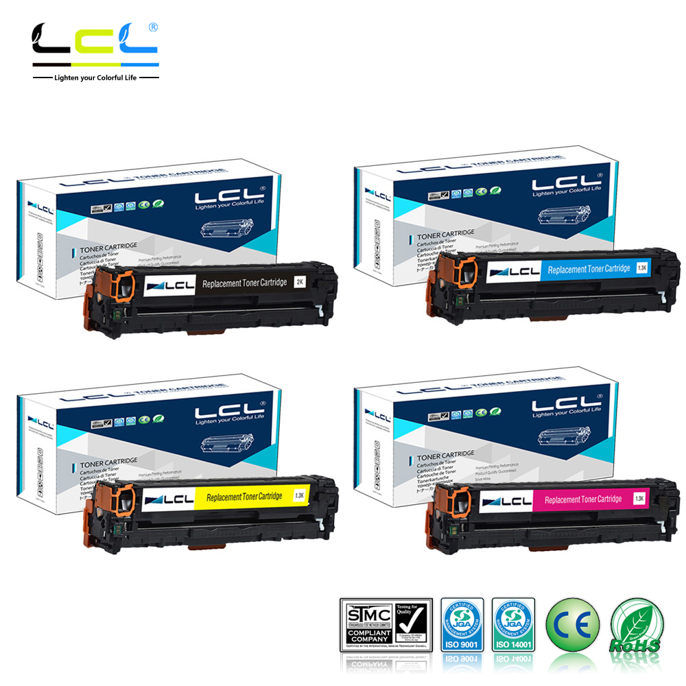 LCL 128A CE320A CE321A CE322A CE323A (4-Pack) Toner Cartridge Compatible for HP Color LaserJet CP1525/CM1415 картридж для принтера hp 128a ce323a laserjet print cartridge magenta