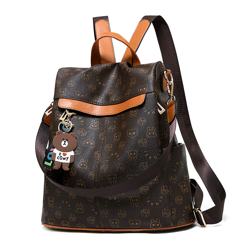 2019 Sale Mochilas Backpack Women Animal Prints Retro Female Schoolbags Bear Pendant Casual Book Bags Ladies Double Shoulder-in Backpacks from Luggage & Bags on AliExpress - 11.11_Double 11_Singles' Day 1