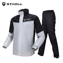где купить Outdoor Waterproof Raincoat Men Motorcycle Pants Suit Adult Raincoat with Pants Men Motorcycle Riding Rain Jacket Rainwear R6251 по лучшей цене
