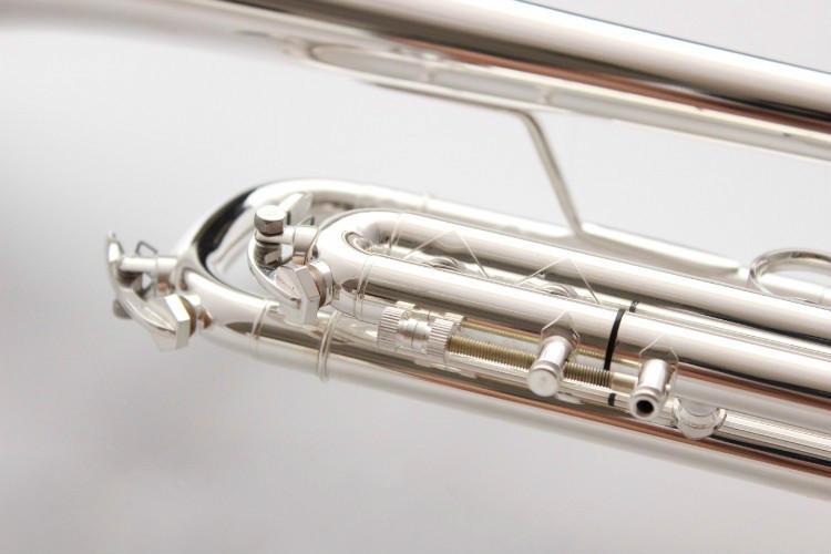 Bach AB 190S Латунь Bb труба высокого качества Посеребренные профессиональные музыкальные инструменты с футляром аксессуары - 6
