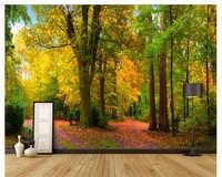 Beibehang papier peint wand papier park woods landschaft papel de parede 3d para sala atacado tapete für wände 3 d tapety