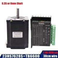 Nema 23 Stepper Motor D shaft 2 phase 4 Leads 57x76mm 189n.cm 23hs7628S 23hs8430 270 Oz in 1.8deg motor with tb6600 driver