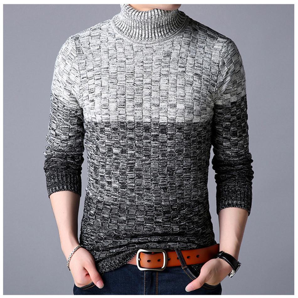 a0eab3325cf6 New Winter Turtleneck Sweater Men Knitted Long Sleeve Sweaters ...