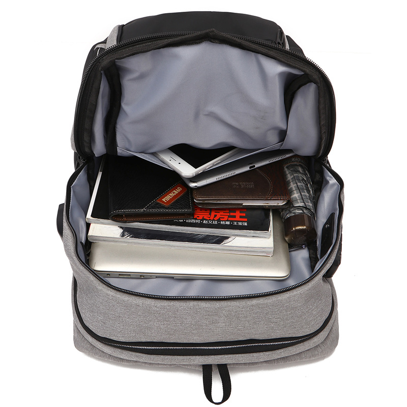 anti theft laptop backpack inside