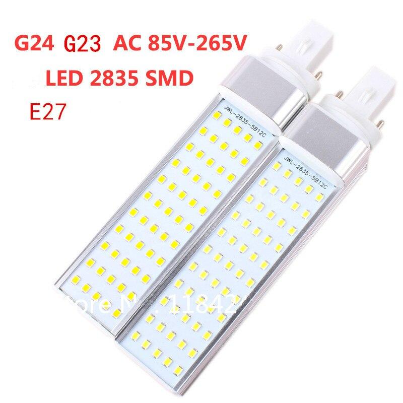 7W 9W 11W 13W 14W E27 G24 G23 LED Corn Bulb Lamp Bombillas Light SMD2835 Spotlight 180 Degree AC85-265V Horizontal Plug Light