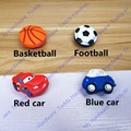 Red car Shape/ football soccer/Basketball handle Cabinet Door Knobs /Dresser Pulls Children Room Soft Rubber Knobs and Pulls