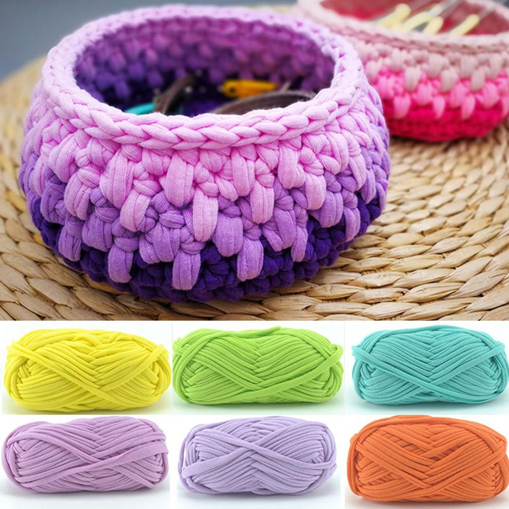 1Pc Hand-knit Woven Thread Solid Color Anti-shrink Braided DIY Crochet Cloth Soft Comfortable Crochet Fancy Cloth Yarn Knitting