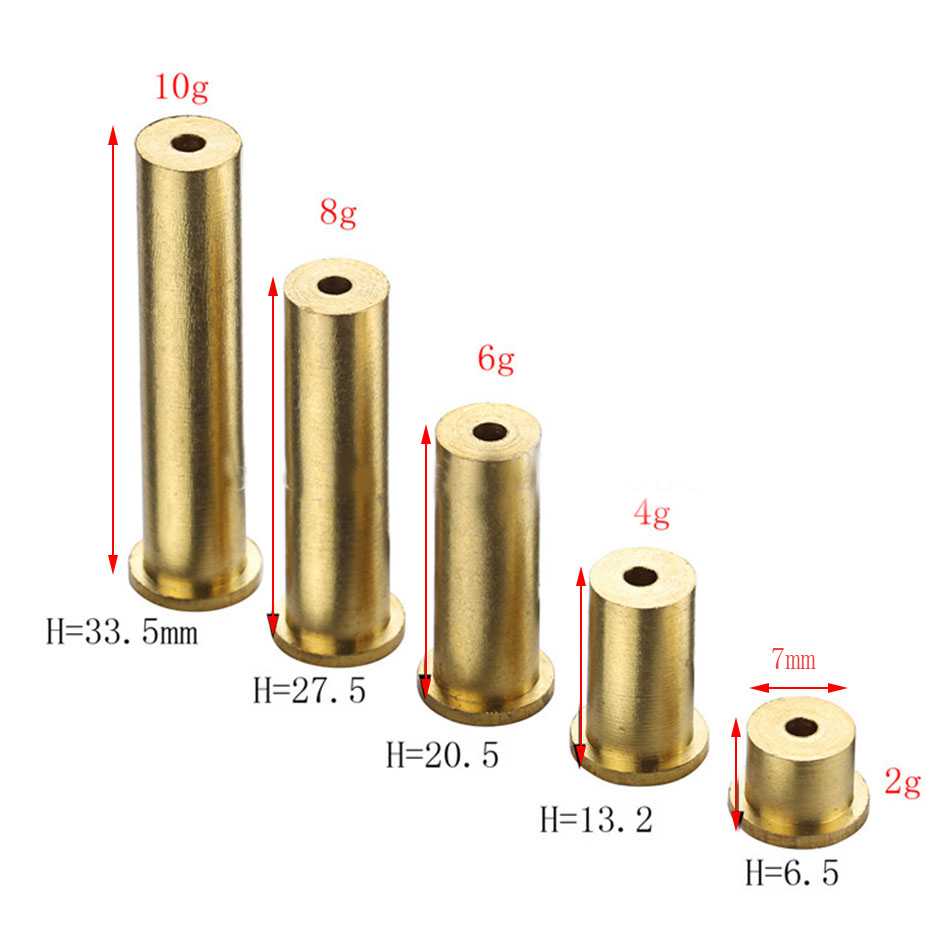 golf Golden Brass Plug Weights For