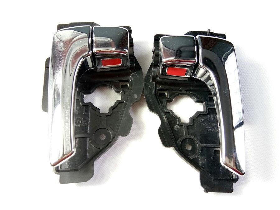 Izquierda/derecha electroplate brillante color de la manija de la puerta INTERIOR para HYUNDAI IX35 TUCSON 82610-2S010 82620-2S010 de calidad superior