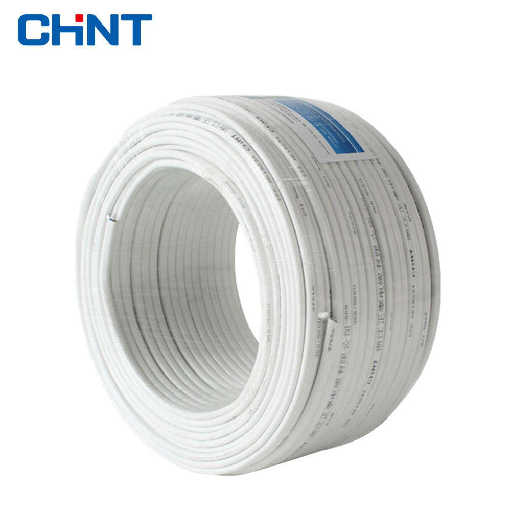 CHNT Wire And Cable Two Core Parallel Lines White Copper Wire BVVB 2 * 1.5 Square Jacket Line 100 Meters цена