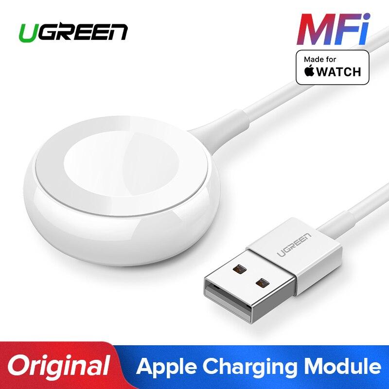 Ugreen Chargeur pour Apple Montre Chargeur MFi Sans Fil Magnétique De Charge USB Câble 1 m Adaptateur pour Apple Montre Série 4 3 2 câble