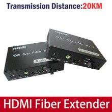 HDMI Convertidor De Fibra Óptica con IR Extensor HDMI de Vídeo y Transmisión de Audio a través De Fibra Óptica (monomodo fibra simple SC)