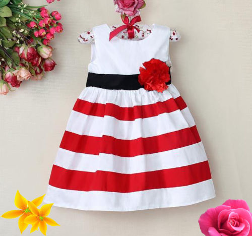 Baby Kids Girls A-line Casual Sleeveless Striped Infant Dress Summer Dress Vest Dress Costume UA high quality casual cotton striped dress for girls teenagers kids summer sleeveless soft vest vestidos children costume