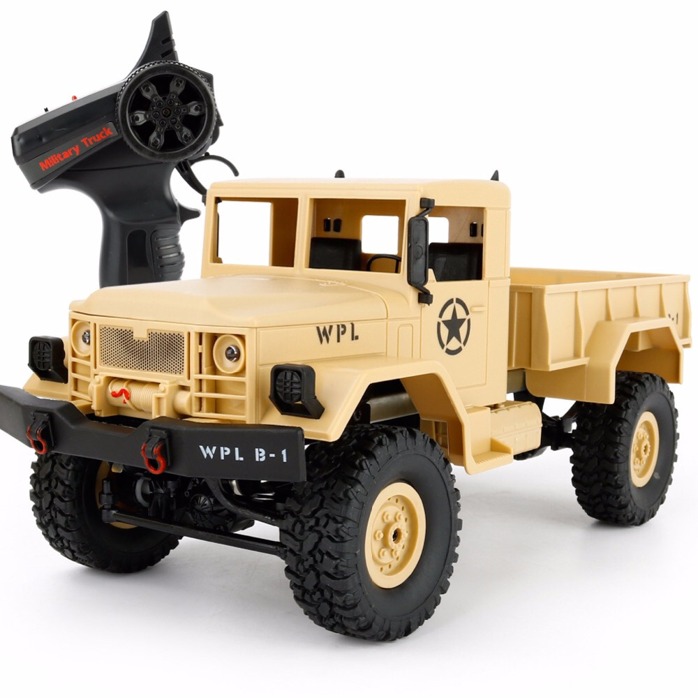 WPL B-1 1/16 Mini 2.4G 4WD Rc chenille hors route voiture avec lumière RTR jouet quatre roues motrices en métal Suspension faisceau LED lumineuse cadeaux