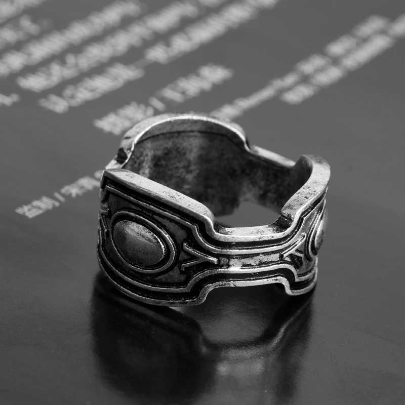 MQCHUN 2018 nuevo anillo de rey Wakanda T'Challa negro Pantera anillo para hombres chicos película joyería regalo-25