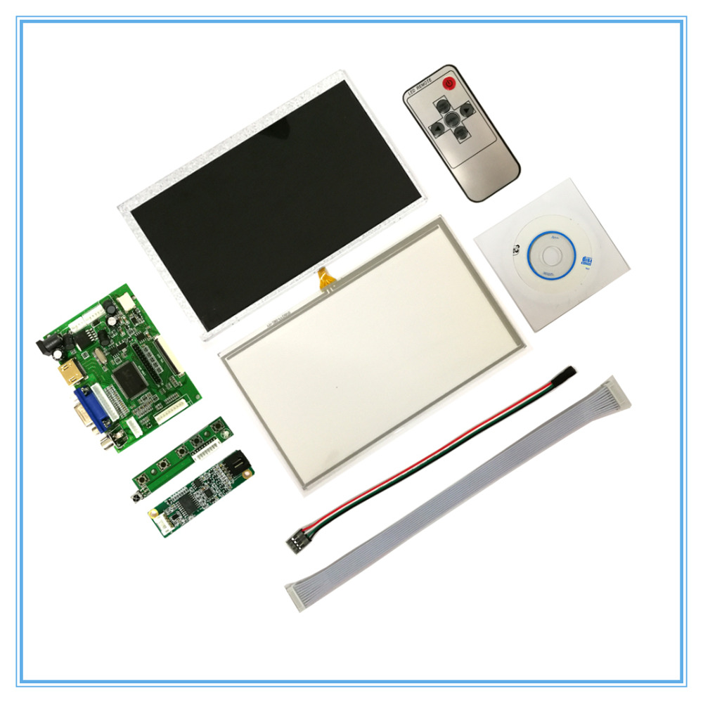 7 inch LCD Touch Screen Display 1024x600 for Raspberry Pi 3+TFT Monitor AT070TN92 with Touch panel Kit HDMI VGA Driver Board the original 7 inch lcd screen at070tn92 at070tn94 industrial touch screen