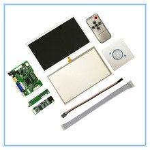 7 дюймов ЖК-дисплей Сенсорный экран Дисплей 1024×600 для Raspberry Pi 3 + TFT Мониторы AT070TN92 с сенсорной панелью комплект HDMI VGA драйвер платы