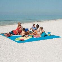 חוף מחצלת קסם חיצוני נסיעות קסם חול משלוח חוף מחצלת פיקניק קמפינג עמיד למים מזרן שמיכת מתקפל Sandless Beachtowel