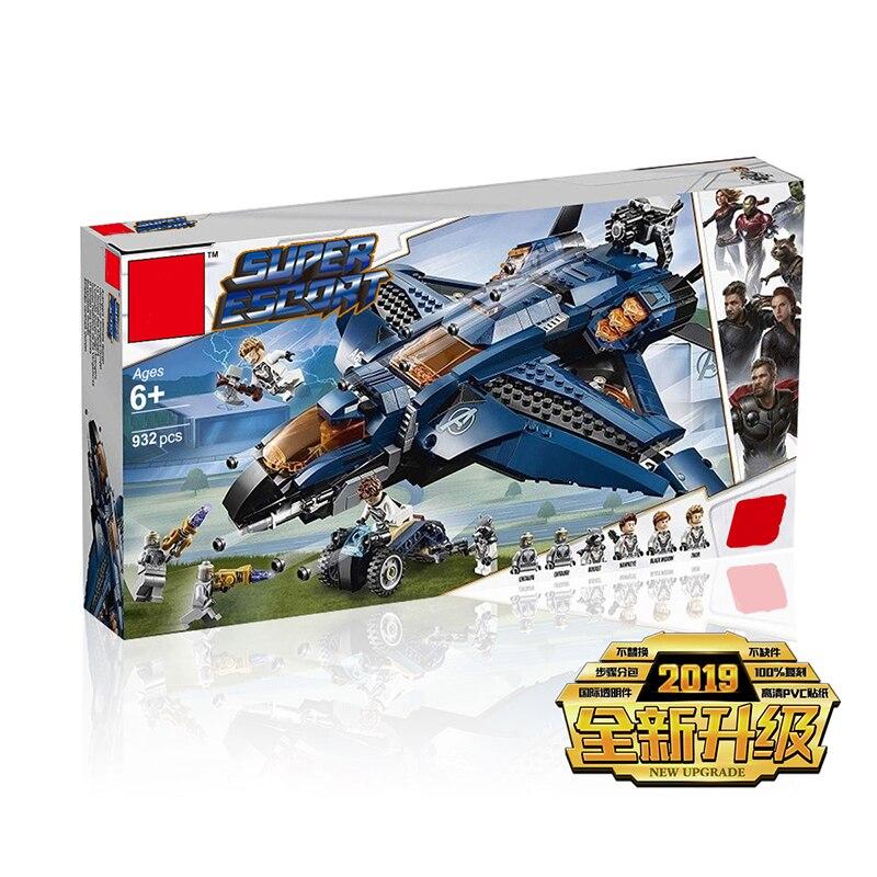 Nouveau Super héros Avengerss 4 Compatible Legoing Marvel 76126 ultime Quinjet blocs de construction briques garçon jouets cadeaux de noël