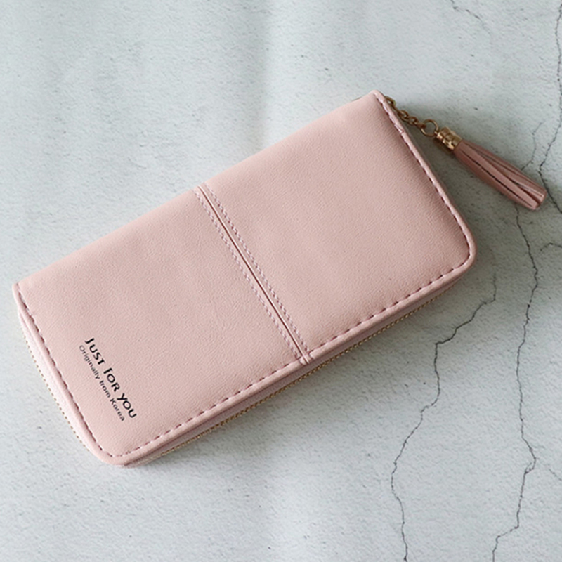 Wallet Female Long Tide Personality Small Fresh Simple Student Cute Slim Coin Purse Korean Version(China)