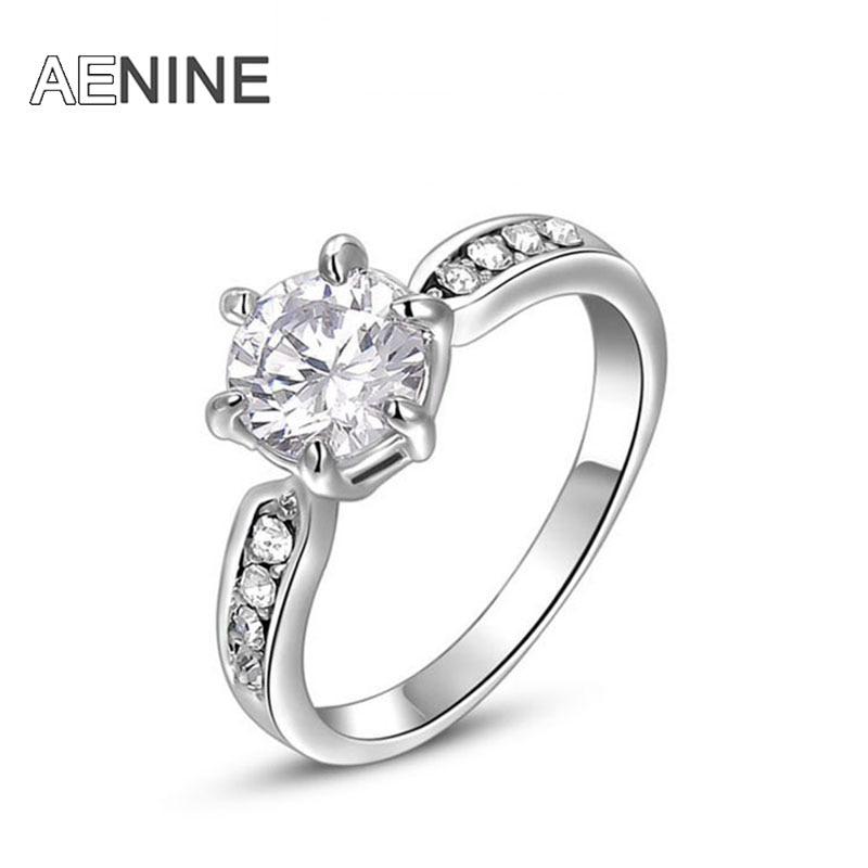 AENINE Trendy Rings 6 Prong...