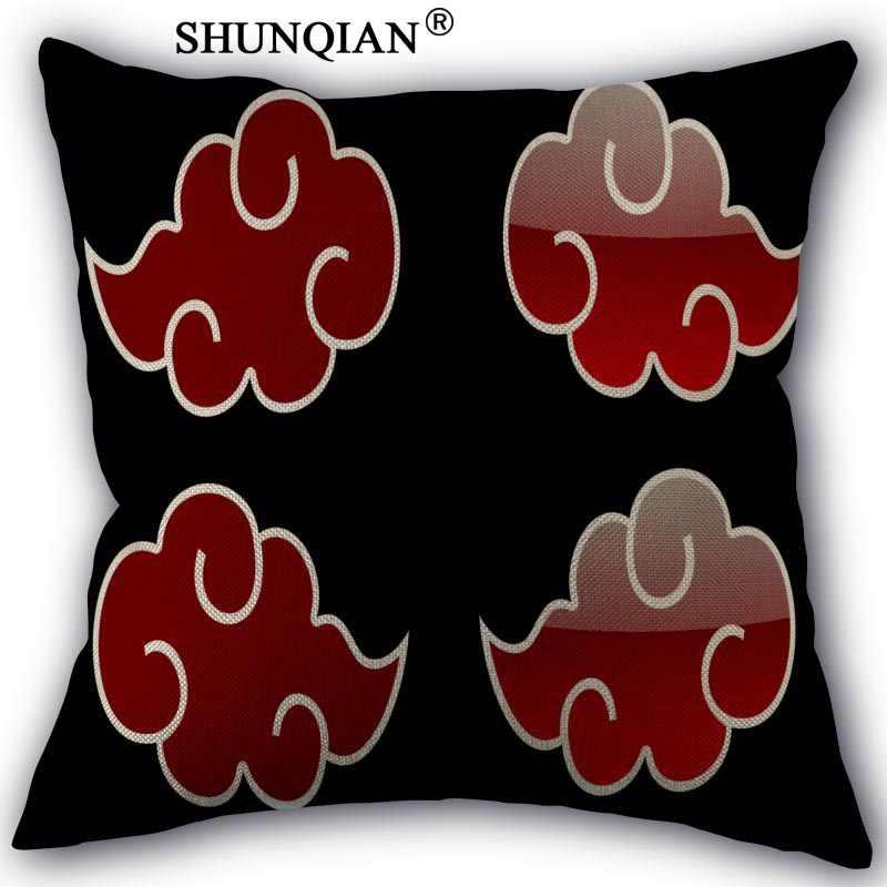 Новая популярная наволочка с логотипом Наруто на заказ, наволочки из хлопка и льна, наволочки 18X18 дюймов
