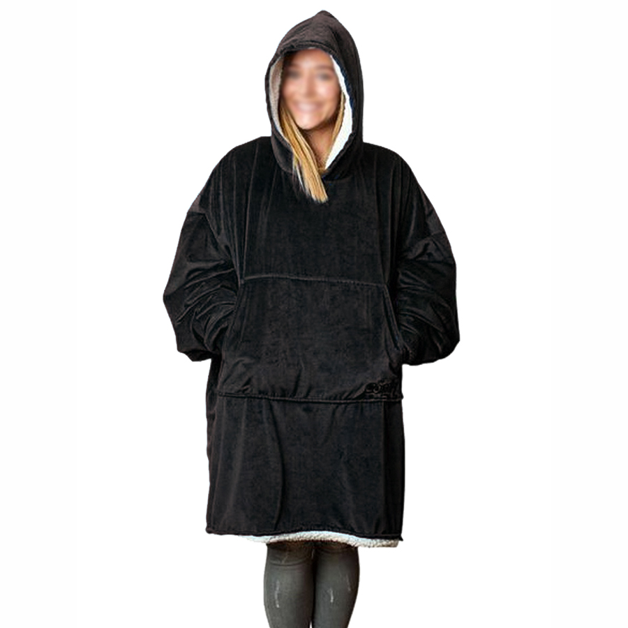 Comfy Hoodie Sweatshirt Blanket Shark Tank Warm Soft Reversible with HoodLarge Pocket One Size (5)