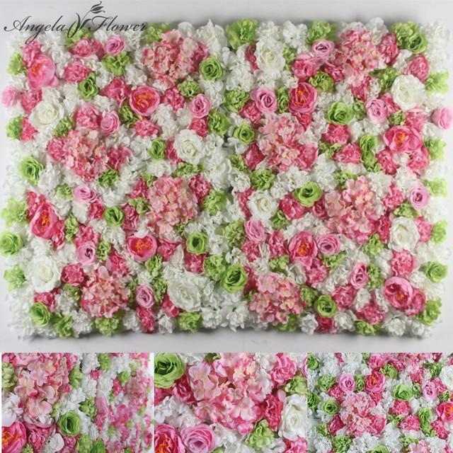 Aliexpress Buy White Diy Wedding Decor Background Flower Wall