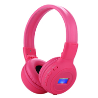 Macaron Glowing 4 In 1 Bluetooth Stereo Headset Wireless Headphone LCD Screen Earphone Fold Auriculares Of