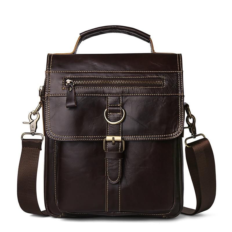 Nouveau arrivé marque de luxe hommes messenger sac hommes épaule en cuir véritable sacs rabat petit homme sac à bandoulière sac à main 9608