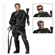 "NECA Terminator 2: Judgment Day T-800 Arnold Schwarzenegger PVC Action Figure Collectible Modelo Toy 7 ""18 cm(China)"