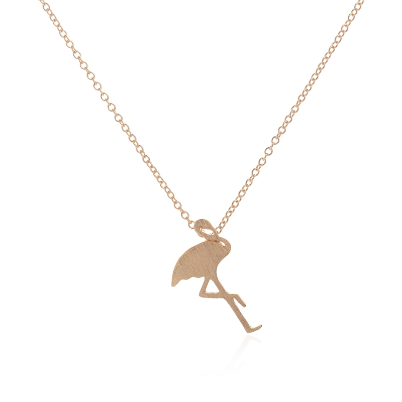 2017 New Fashion Flamingo Necklace for Women Simple Animal Bird ...
