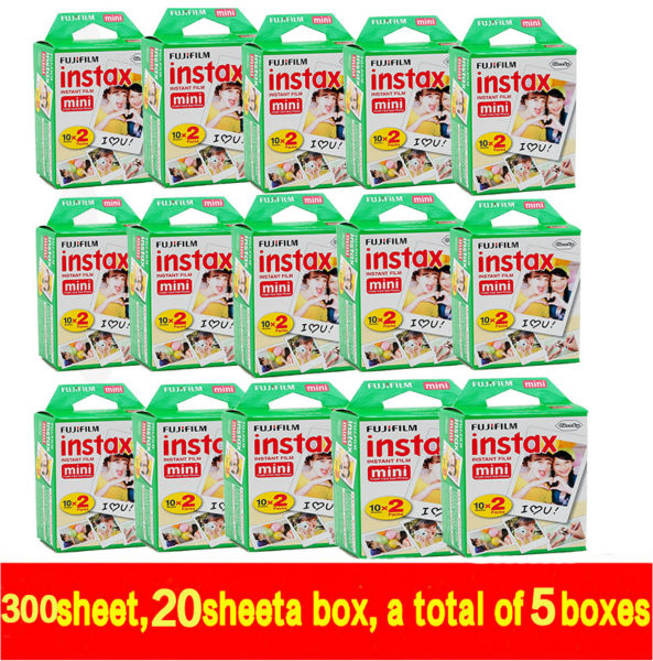 New 20pcs/box fujifilm instax mini 8 film 300sheets for camera Instant mini 7s 25 50s 90 Photo Paper White Edge 3 inch wide film fujifilm instax mini 8 instant film photo camera 10 sheets films 3 inch hang photo favorites 5 pcs photo corner stickers