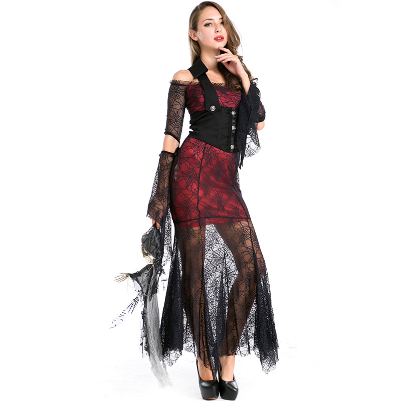 Umorden Party Halloween Costumes Adult Women Sexy Lace Retro Noble Spider Web V&ire Costume Cosplay Long Fancy Dress for Women-in Holidays Costumes from ...  sc 1 st  AliExpress.com & Umorden Party Halloween Costumes Adult Women Sexy Lace Retro Noble ...