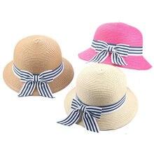 Gorra de verano para niños sombrero de paja transpirable niños niñas  sombreros de paja sombrero de playa para niños de 2-7 años 2ec8dc29f659