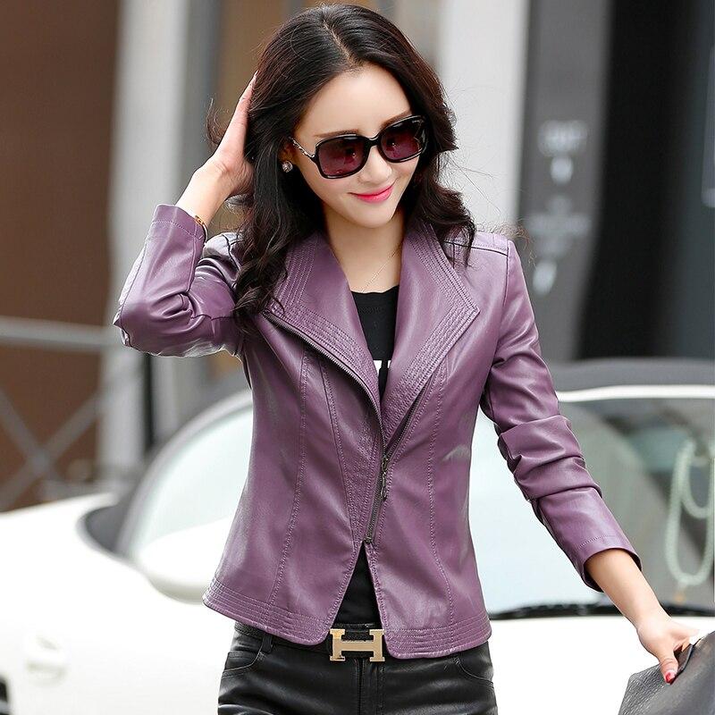 Qualité 2 1 Couleur Haute Fit Luxe Solide Streetwear Vêtements De Femmes Harajuku Loisirs Fashion Cuir Manteau 3 Veste Neuf 4 Slim Coréenne En R4Exwpq