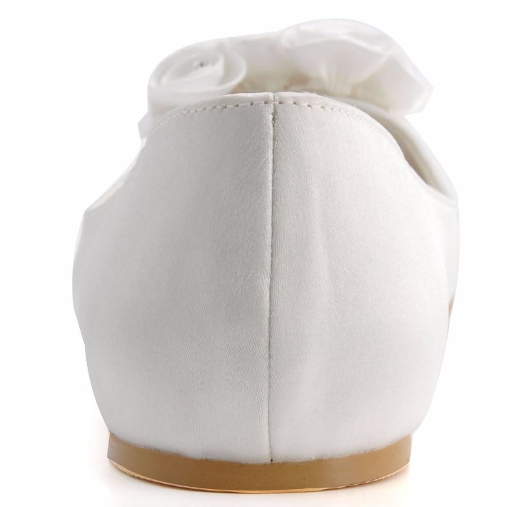 Nupcial Pisos Rhinestone Tamaño Mujer Toe El Iovry Raso Marfil Señoras Zapatos Peep Ep31015 Moda Flor De Más qZTqEB
